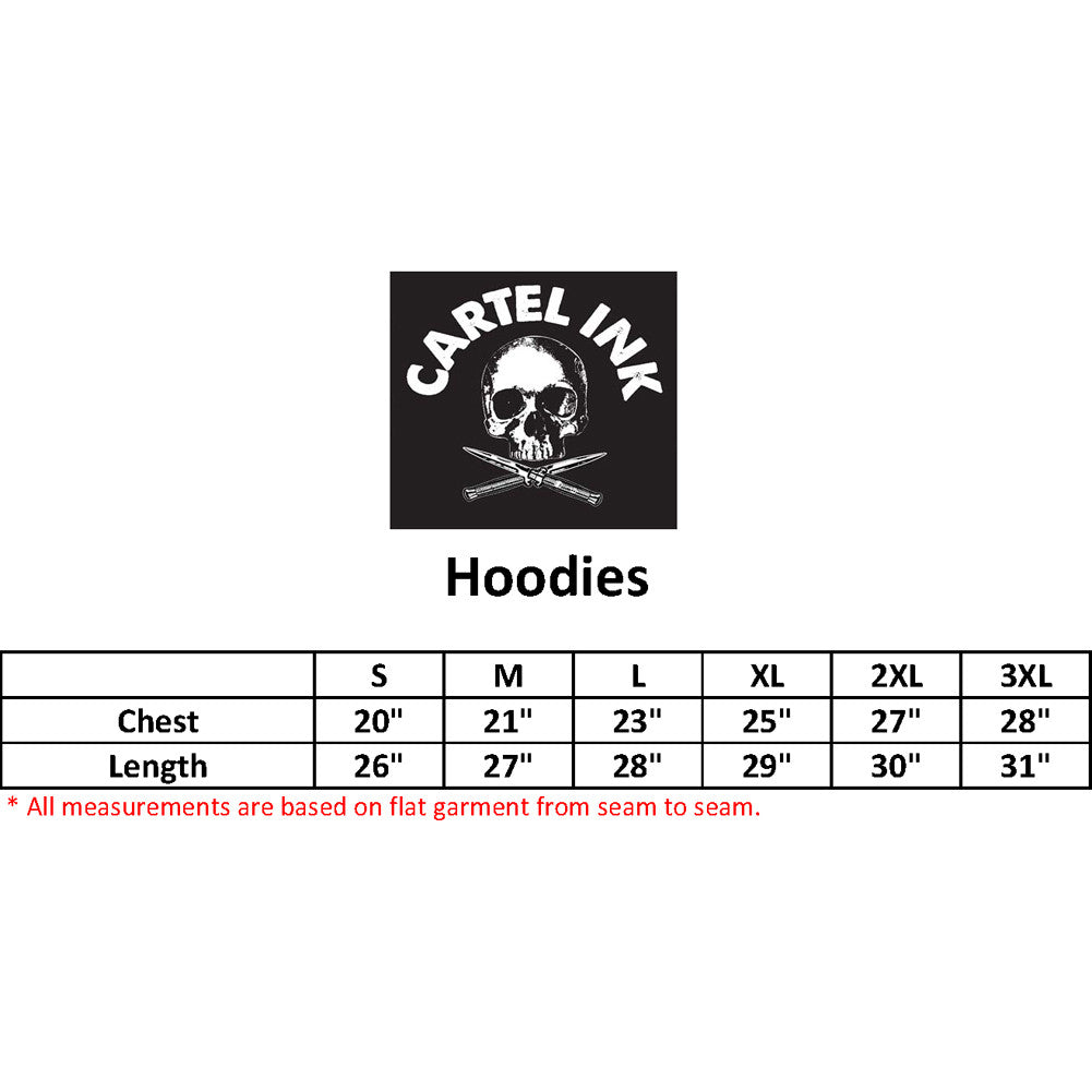 Unisex Cartel Ink Tattoo Flash One Hoodie White American Traditional