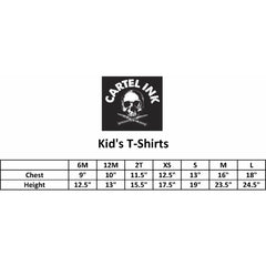Kid's Cartel Ink Kisses 25� T-Shirt Black Baby Toddler
