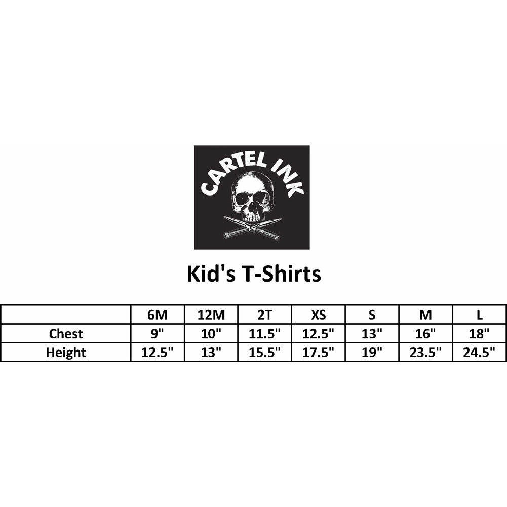 Kid's Cartel Ink Born To Raise Hell T-Shirt Black Baby Toddler Black Devil