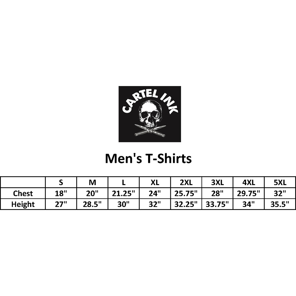 Men's Cartel Ink Rise Above T-Shirt Black Skull Crossbones Spade
