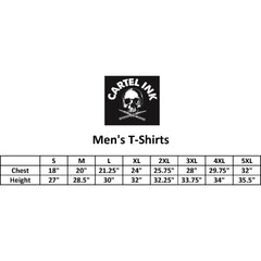 Men's Cartel Ink Secret Society T-Shirt Black Skull Bowler Hat Tattoo