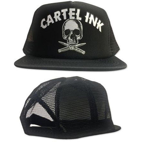 Cartel Ink Ready To Rumble Trucker Hat Skull Switchblades Logo