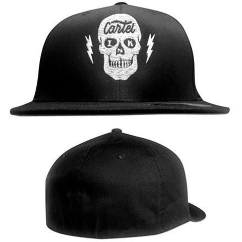 Cartel Ink Taking Care of Business Flat Bill Flex Fit Hat Skull