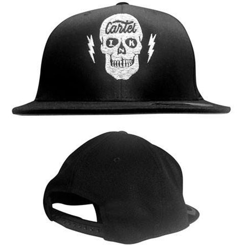 Cartel Ink Taking Care of Business Flat Bill Snapback Hat Skull