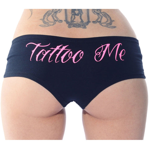 Cartel Ink Tattoo Me Booty Shorts Underwear Lingerie Sexy Ink Inked Tattooed