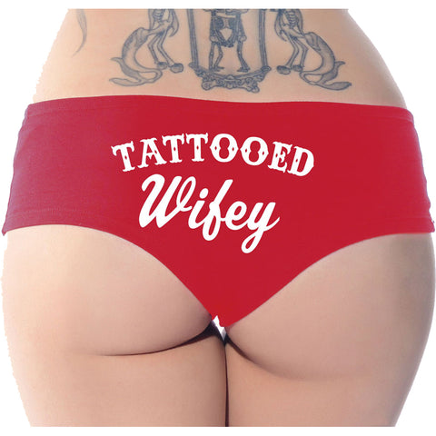 Cartel Ink Tattooed Wifey Booty Shorts Red Inked Wife Valentines