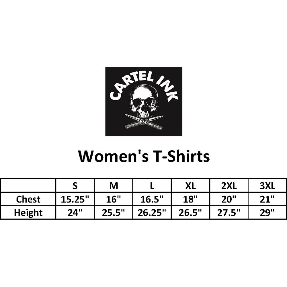 Women's Cartel Ink Cuddle Gangsta T-Shirt Black Funny