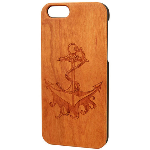 Case Worx Anchor Wood Cell Phone Case Nautical