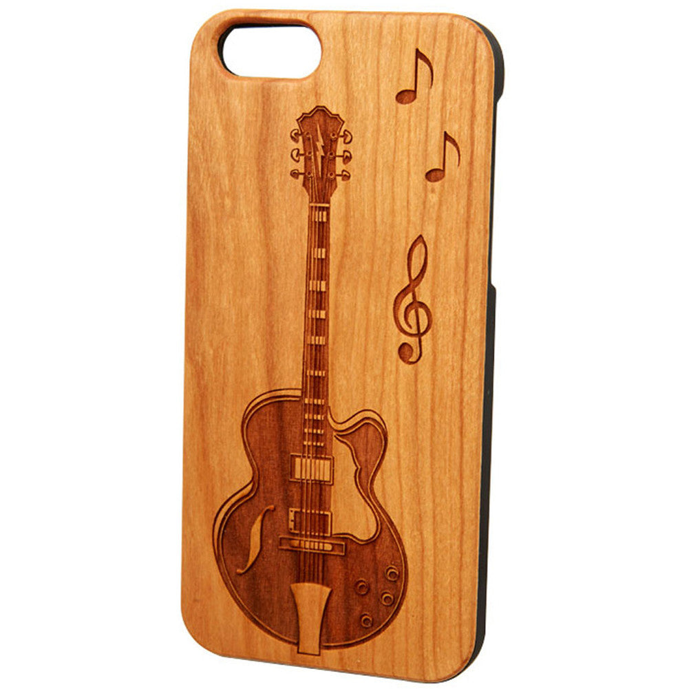 Case Worx Guitar Wood Cell Phone Case Music Lover Notes Musician