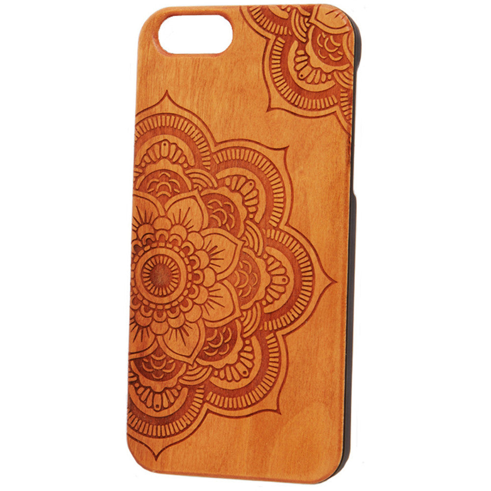 Case Worx Mandala 2 Wood Cell Phone Case Tattoo