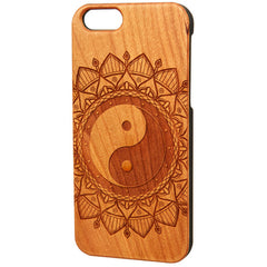 Case Worx Mandala Ying Yang Wood Cell Phone Case Tattoo