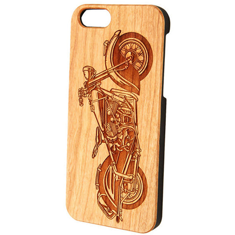 Case Worx Motorcycle Wood Cell Phone Case