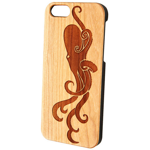 Case Worx Octopus Wood Cell Phone Cases Nautical