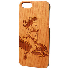 Case Worx Pin Up 3 Wood Cell Phone Case Retro Vintage Inspired Rockabilly