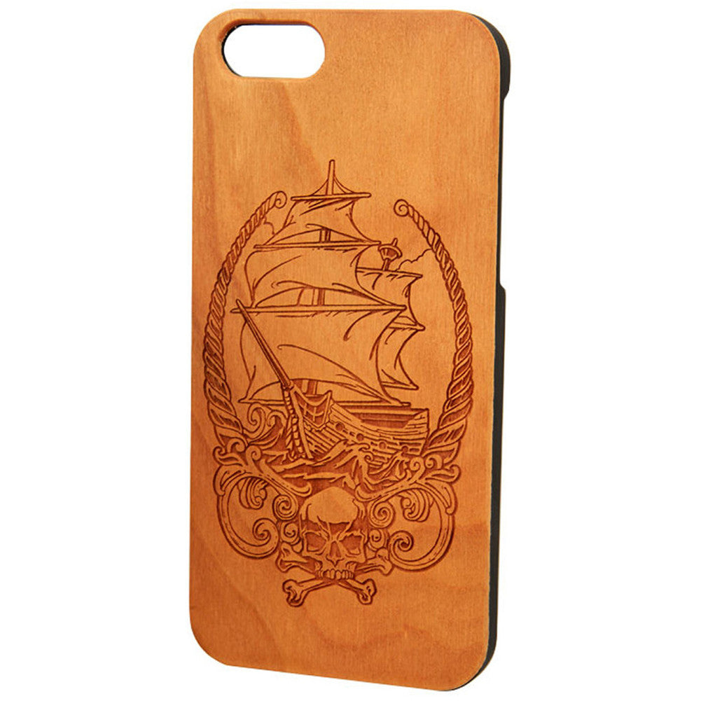 Case Worx Pirate Ship Wood Cell Phone Case Nautical Tattoo Inspired