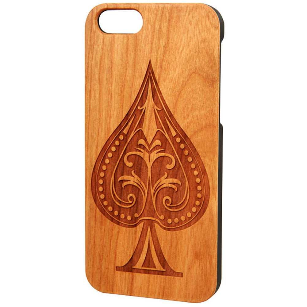 Case Worx Spade Wood Cell Phone Case Rockabilly