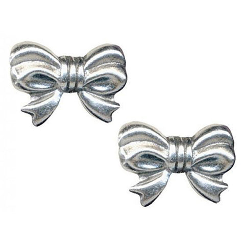 Classic Hardware Bow Rockware Post Earrings