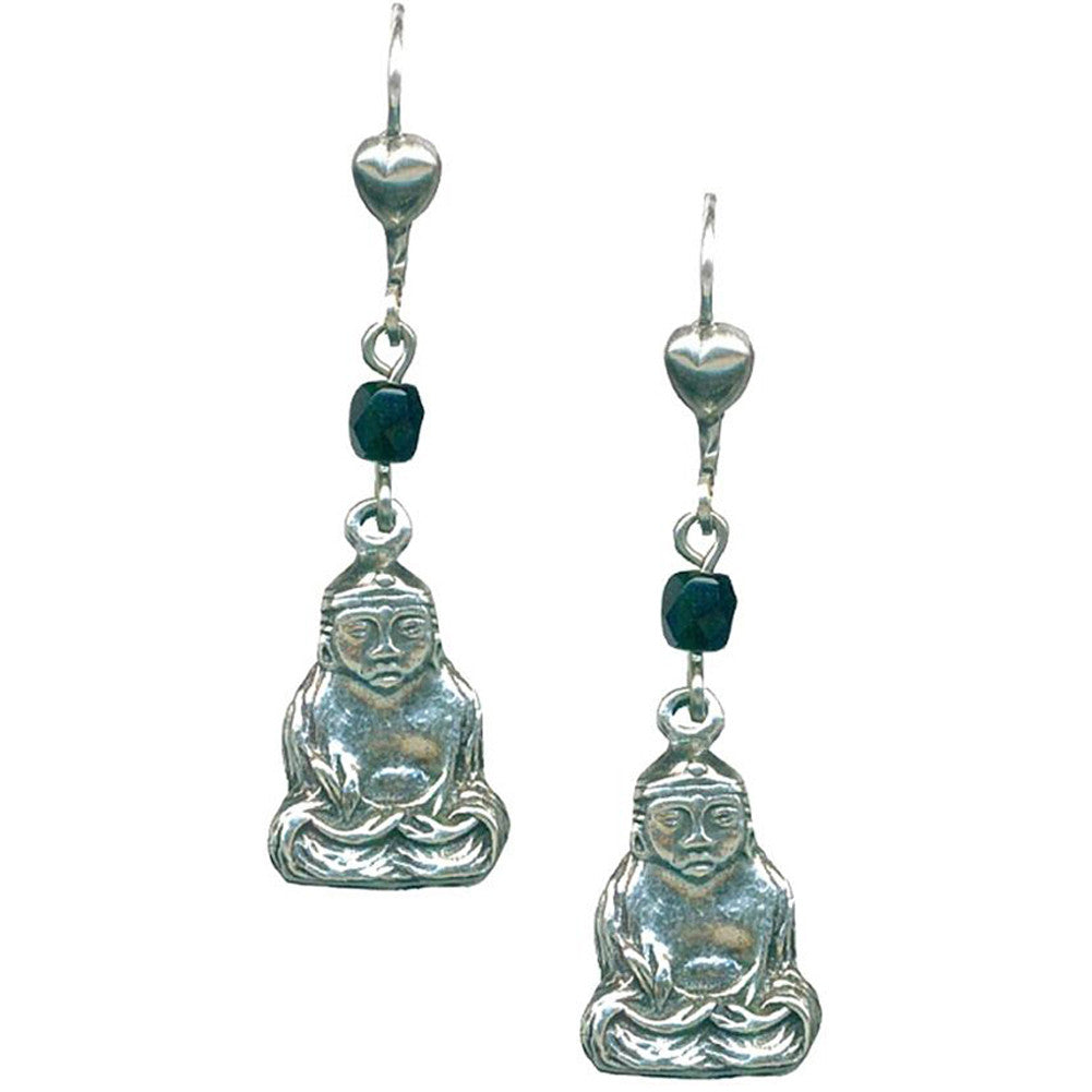 Classic Hardware Buddha Rockware Earrings Beads Mystical Eastern
