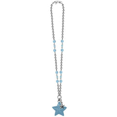 Classic Hardware Double Star Retrolite Necklace Opal Beads Retro Rockabilly