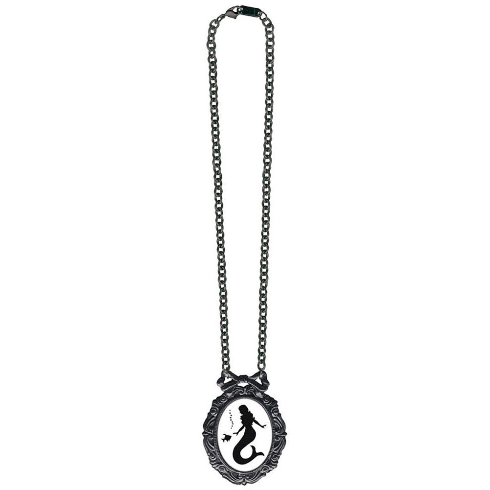 Classic Hardware Mermaid Classic Silhouette Necklace Black Enamel Nautical