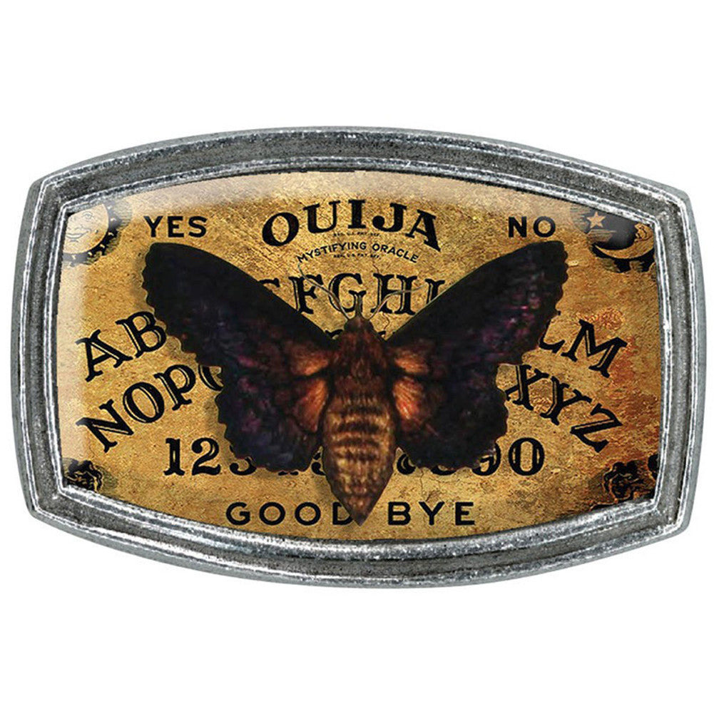 Classic Hardware Moth & Ouija Belt Buckle Occult Paranormal