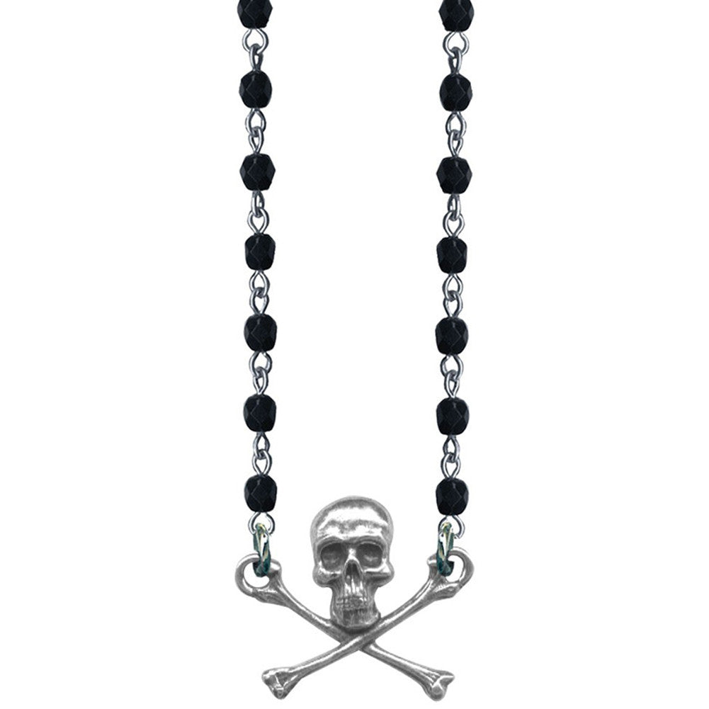 Classic Hardware Skull and Cross Bones Necklace Punk Psychobilly