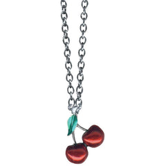 Classic Hardware Two Cherry Rockware Necklace Retro Rockabilly Pinup