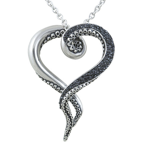 rockabilly jewelry psychobilly retro vintage pinup tattoo Heart Tattoo with Ribbon controse jewelry dark bright tentacle necklace