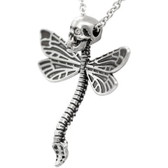 Controse Jewelry Deadly Dragonfly Necklace Skull Punk