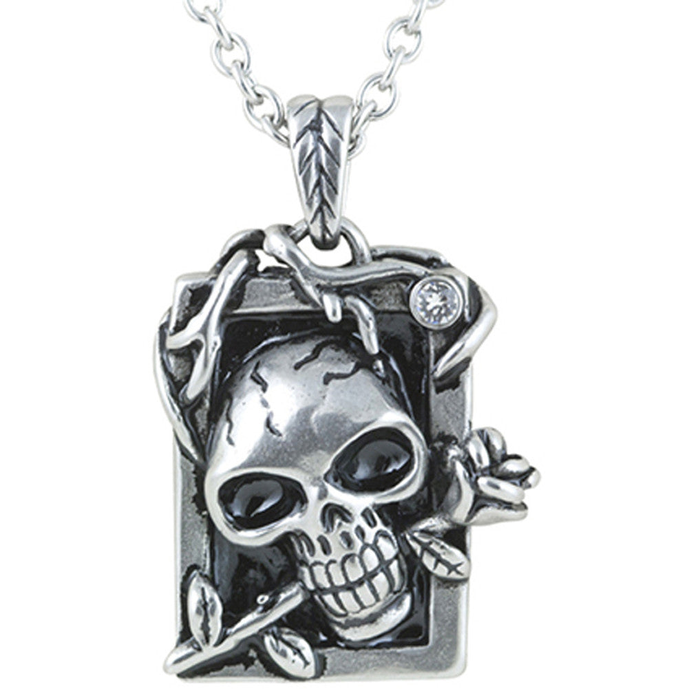 Controse Jewelry Eternal Beauty Necklace Skull Rose Punk Goth