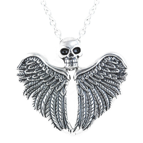 Controse Jewelry Fearless Flight Necklace  Winged Skull