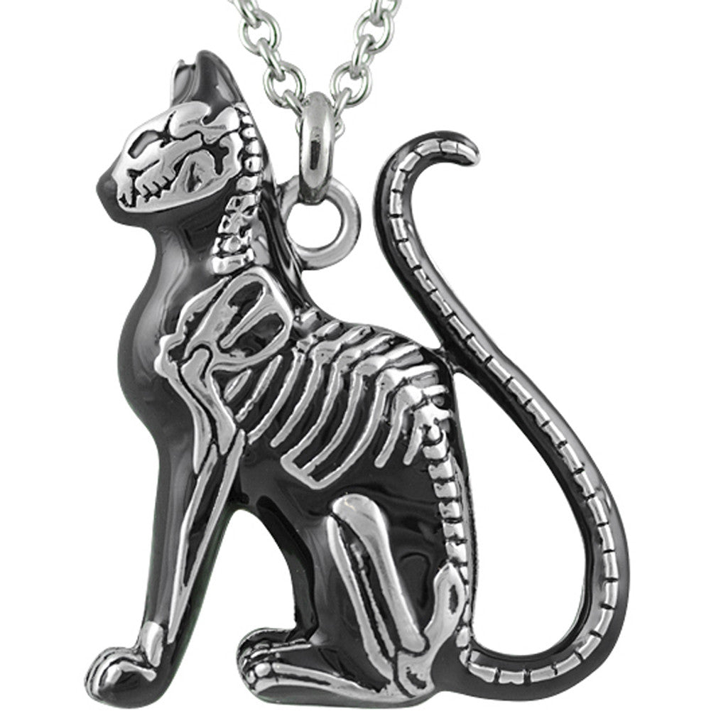 Controse Jewelry Feral Bones Necklace Skeleton Cat Bones Goth Nugoth