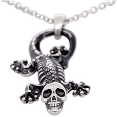 Controse Jewelry Ghoulish Gecko Necklace keleton Bones Punk