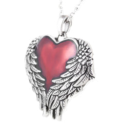 Controse Jewelry Guarded Heart Necklace Wings