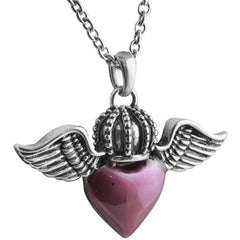 Controse Jewelry Heart of Royalty Necklace Wings Crown Skull Punk