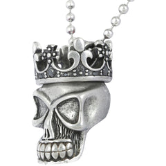 Controse Jewelry Royale Two Piece Crown And Skull Necklace Punk