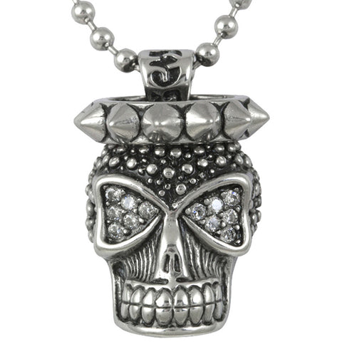 Controse Jewelry Skull And Spikes Necklace Punk