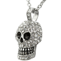 Controse Jewelry Skull Necklace With Swarovski Crystals Punk