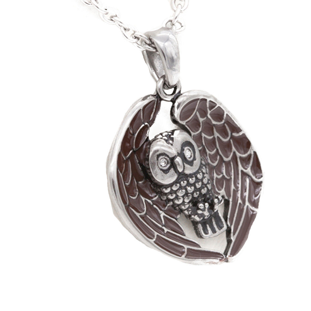 Controse Jewelry Starry Eyed Owl Necklace Cute Sweet