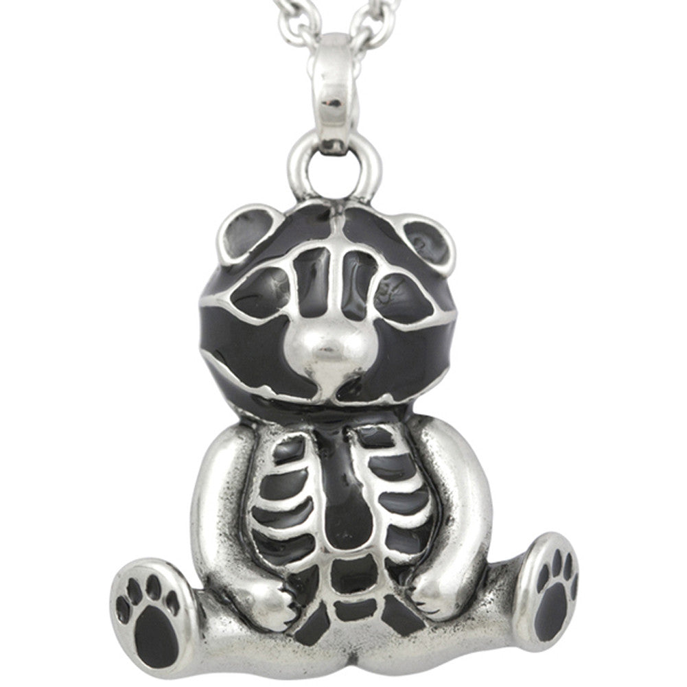 Controse Jewelry Teddy Sitting Pretty Necklace Skeleton Bear Bones
