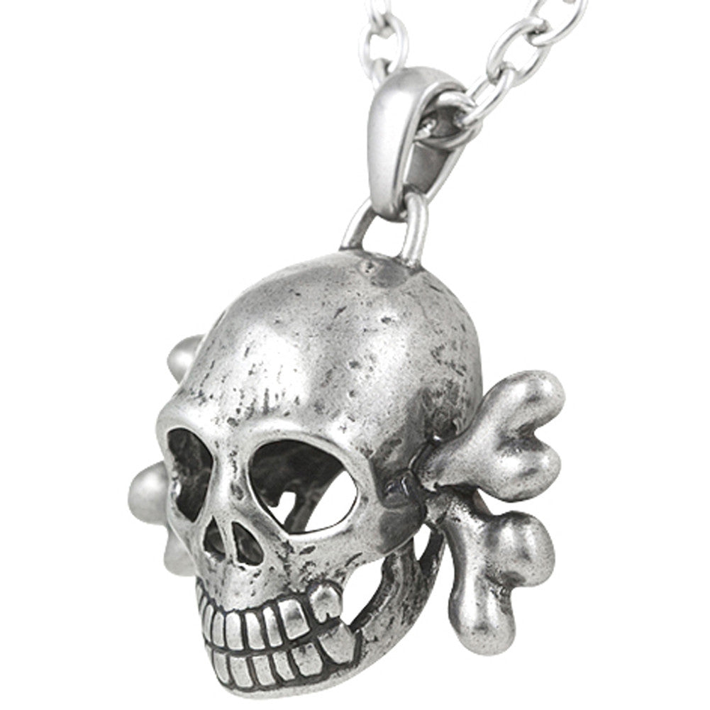 Controse Jewelry Toxic Skull Necklace Crossbones Punk
