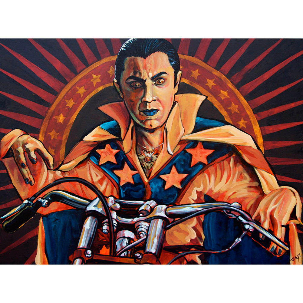 Count Knievel By Mike Bell Evil Knievel Dracula Bela Lugosi Canvas Giclee