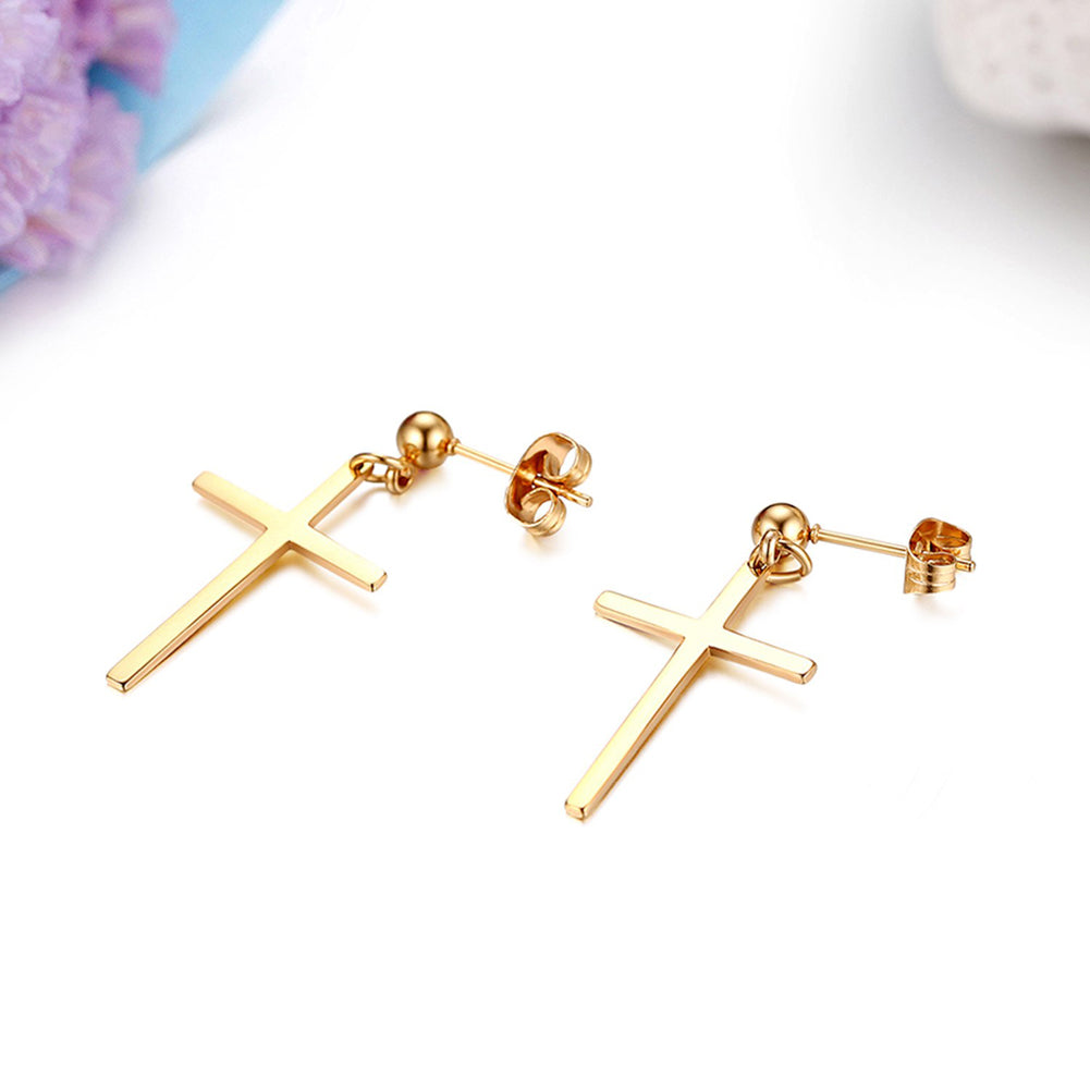Cross Dangle Earrings Punk Goth Alternative