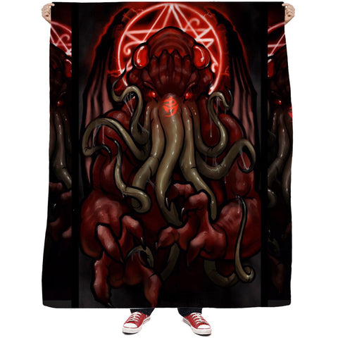 Cthulhu's Abyss Fleece Blanket