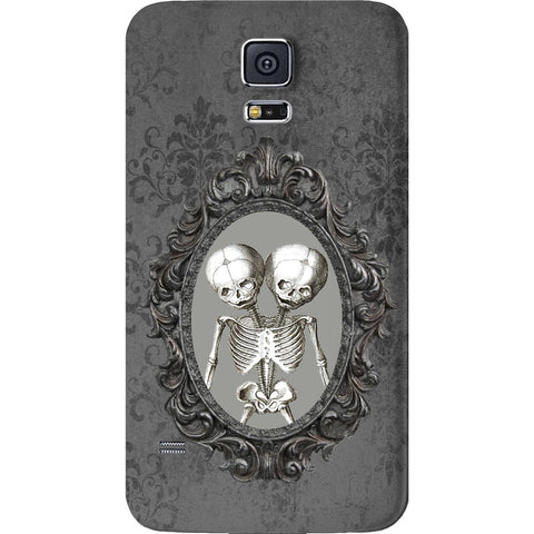Mayhem Marilyn Damask Conjoined Skeleton Galaxy Case
