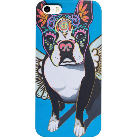 Day of the Dead Angel Dog Phone Case