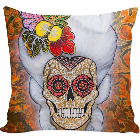 Day of the Dead Marie Antoniette Pillow