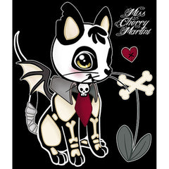 Dead Kitty Canvas Giclee By Miss Cherry Martini Skeleton Cat Bones