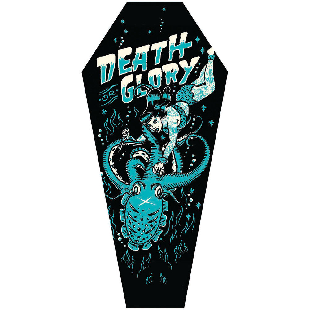 Death or Glory Coffin Canvas Giclee by Adi Octopus Tattooed Girl Nautical