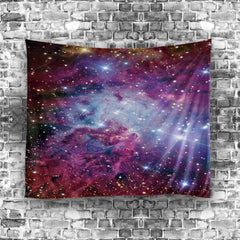Nebula Tapestry Pink Space Wall Hanging Home Décor